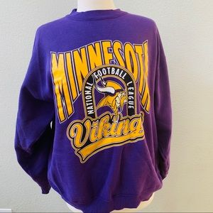 san francisco 86b50 89b77 MINNESOTA VIKINGS NFL vintage purple sweatshirt